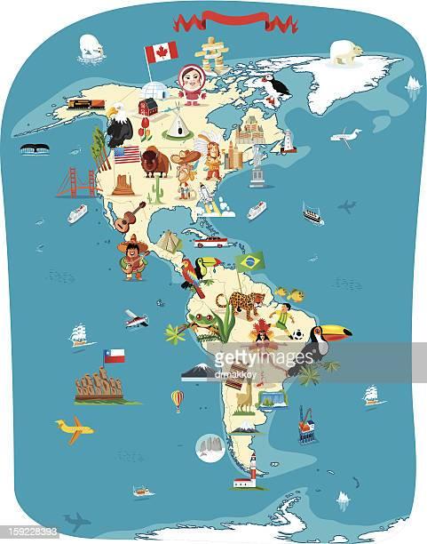 Cartoon Karte von Amerika