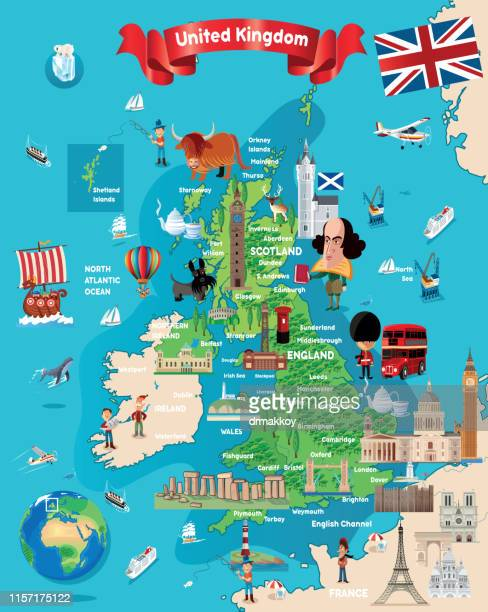 Cartoon Map of BRITISH
