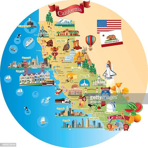 California Map Cartoon.Southern California Stock Illustrations And Cartoons