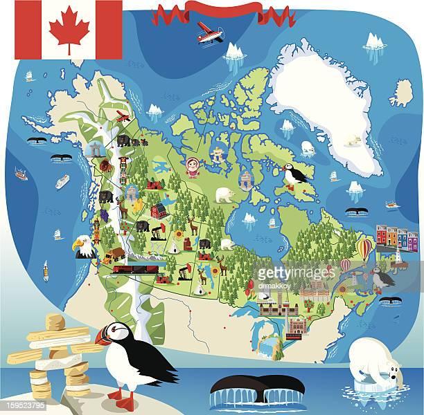 Cartoon map of Canada