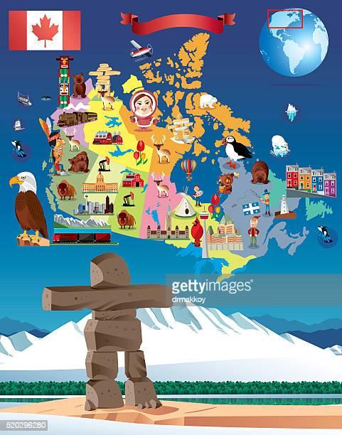 Cartoon-Karte von Kanada