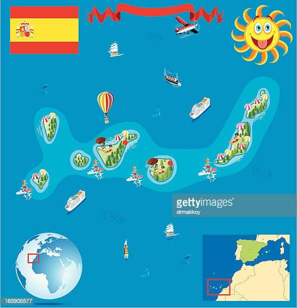 Kanaren Inseln Karte.60 Hochwertige Kanarische Inseln Stock Vektoren Und Grafiken