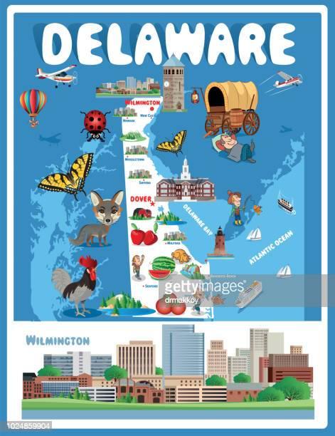 Cartoon Map of Delaware