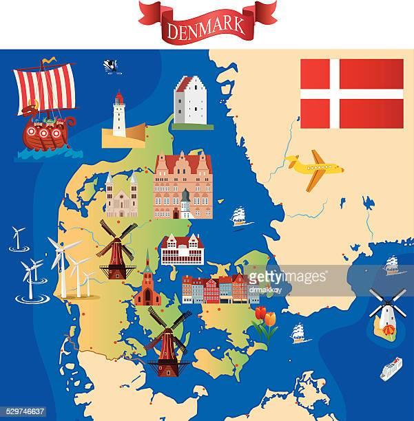 ilustraciones, imágenes clip art, dibujos animados e iconos de stock de dibujo mapa de dinamarca - dinamarca