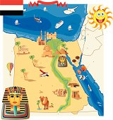 Cartoon map of Egypt
