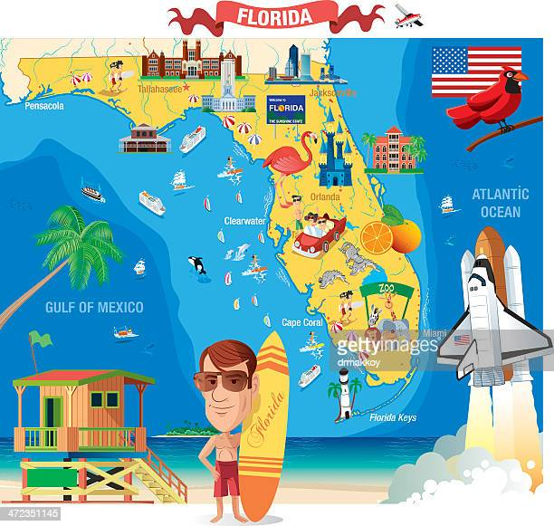 World\'s Best Gulf Coast Map Stock Illustrations - Getty Images