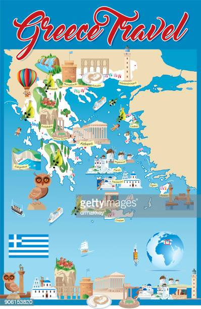 cartoon map of greece - greek islands stock illustrations, clip art, cartoons, & icons