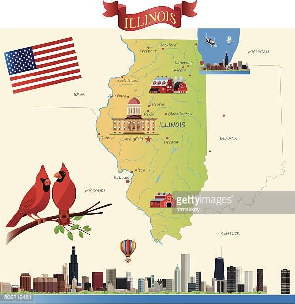 Mulher mapa de Illinois