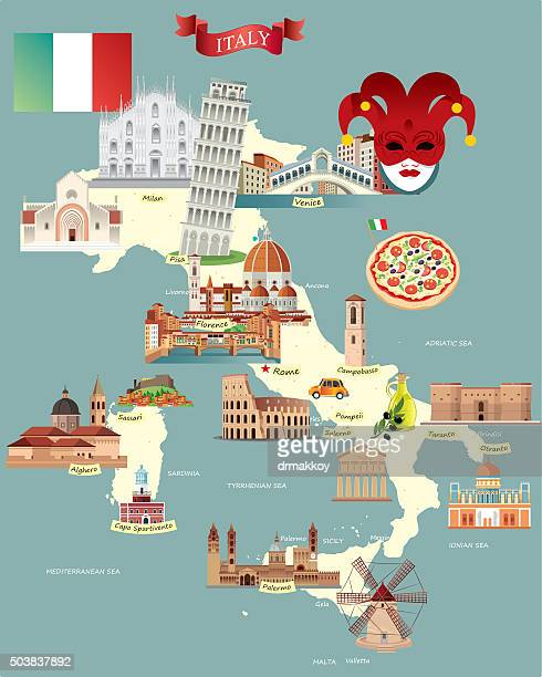 cartoon map of italy - milan stock illustrations, clip art, cartoons, & icons