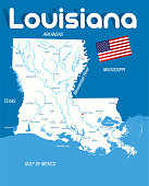 Cartoon Map of LOUISIANA