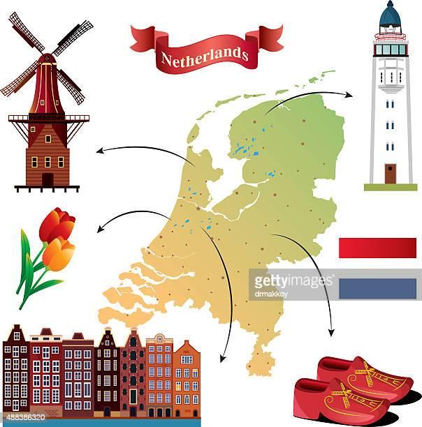 Mulher mapa de Netherland
