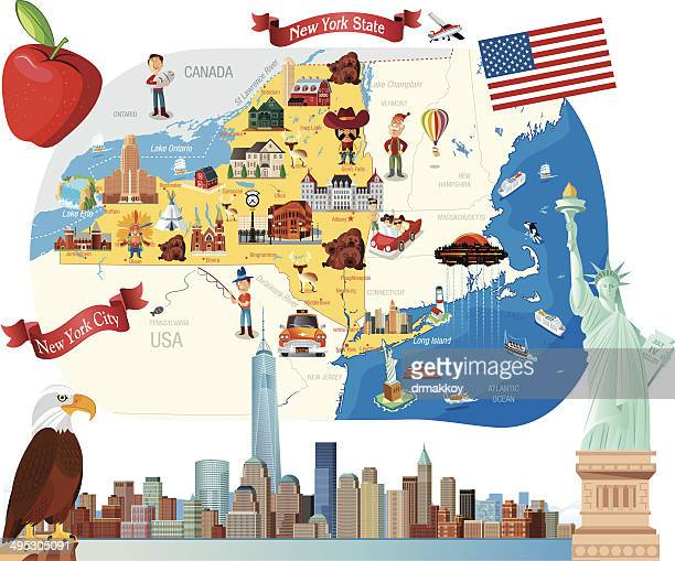 cartoon map of new york - yellow taxi stock illustrations, clip art, cartoons, & icons