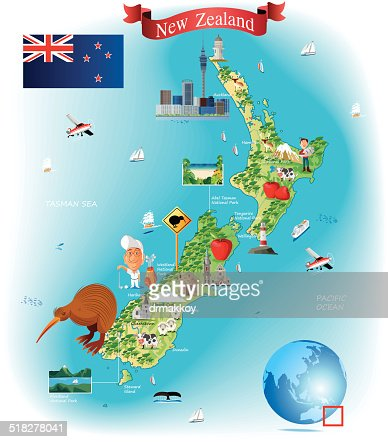 Cartoon map of new zealand vector art getty images keywords gumiabroncs Image collections