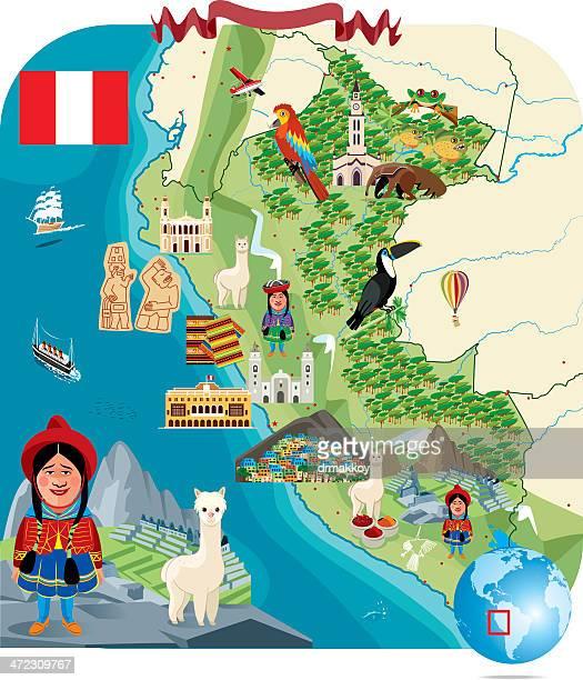 Cartoon Map of PERU
