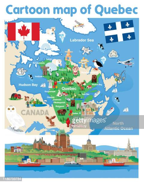 Cartoon map of QUEBEC