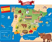 Cartoon map of SPAIN