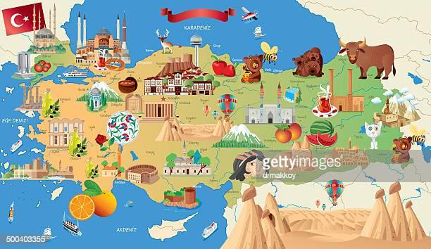 Cartoon Karte von der Türkei