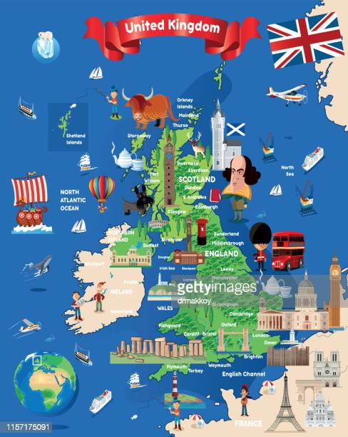 Cartoon Map of United Kingdom