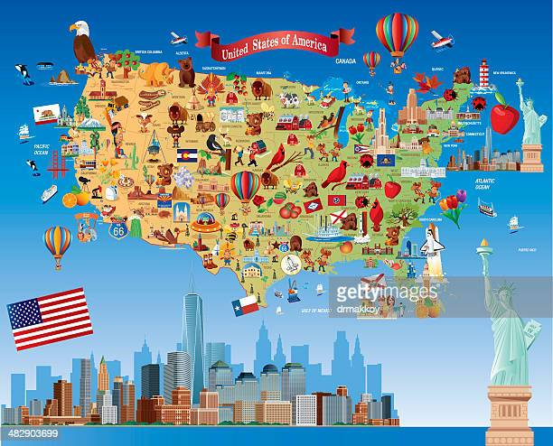 cartoon karte der usa - georgien stock-grafiken, -clipart, -cartoons und -symbole