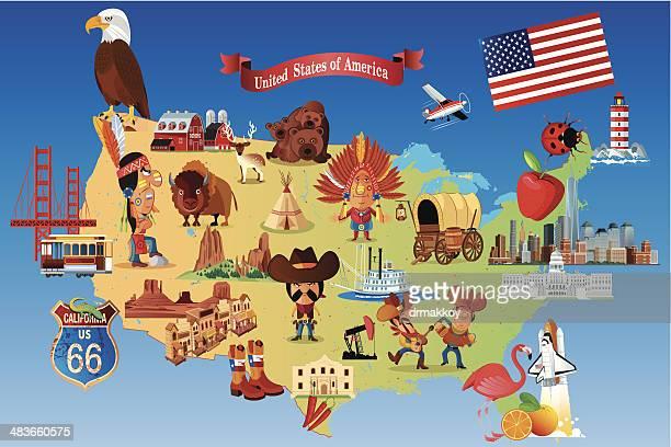 New England Map Cartoon Stock Illustrations And Cartoons Getty - Cartoon us map