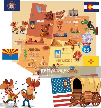 Usa Flag Utah Map Vector Art Getty Images - Utah on map of usa