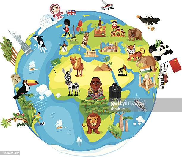 Cartoon Karte der Welt