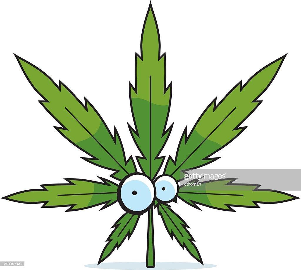 Cartoon Marijuana Leaf