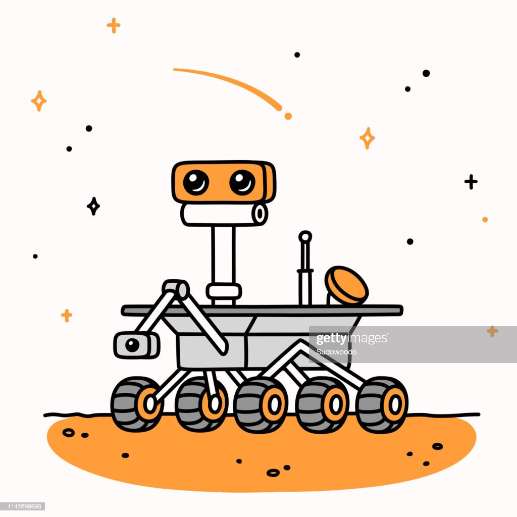 Cartoon Mars Rover