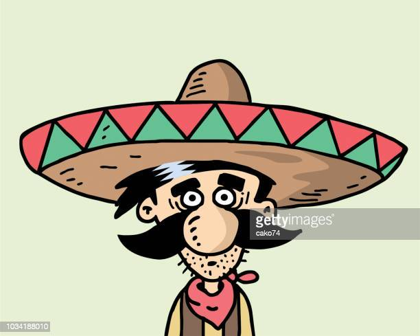 cartoon mexikanischen abbildung - sombrero stock-grafiken, -clipart, -cartoons und -symbole