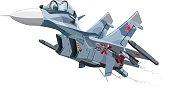 Cartoon Military Airplane