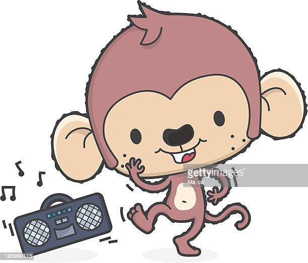 cartoon monkey dance to music / childrens party