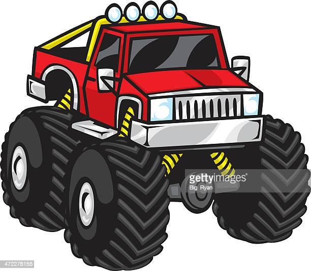 60 Meilleurs Monster Truck Illustrations, Cliparts