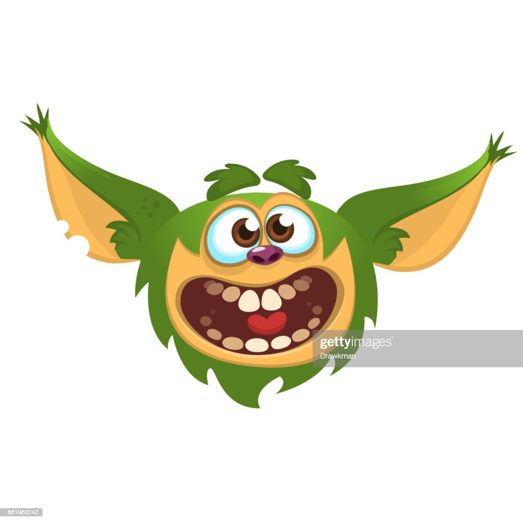Cartoon monster. Vector illustration
