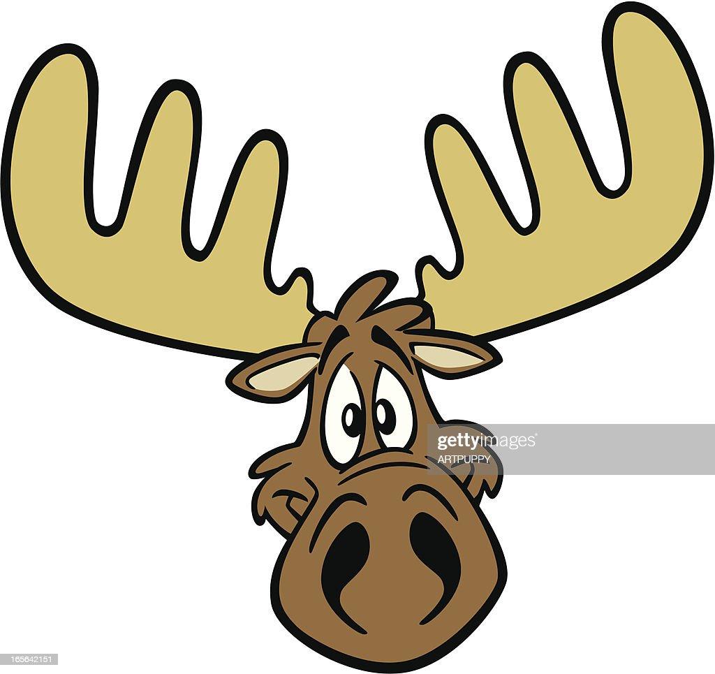 cartoon moose head vector art getty images rh gettyimages com cartoon moose pictures free cartoon baby moose pictures
