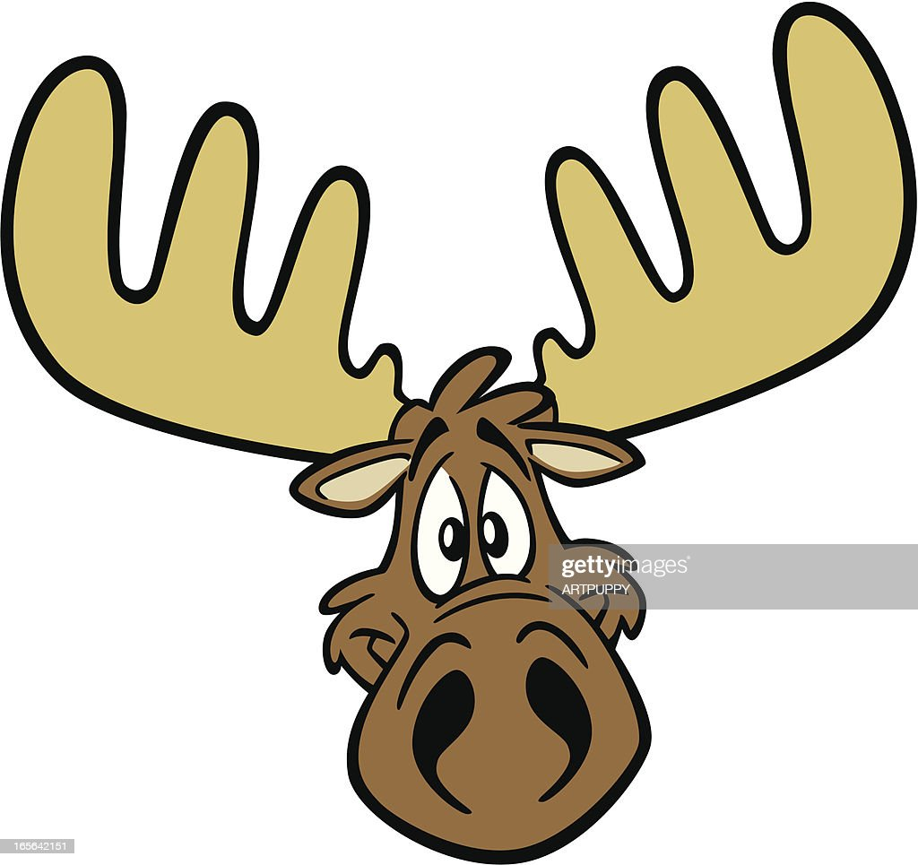 Cartoon Moose Head