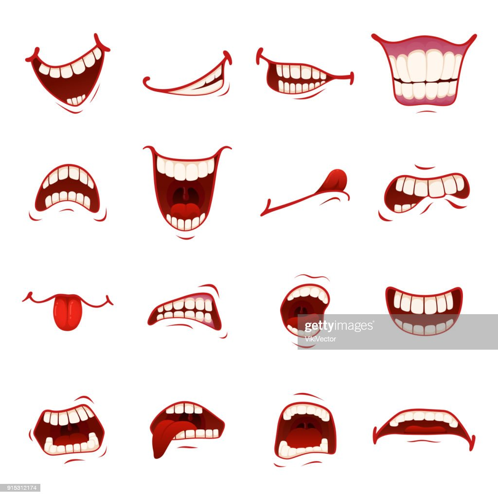 Cartoon mouth with teeth