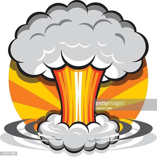 ilustrações, clipart, desenhos animados e ícones de nuvem cogumelo dos - bomba nuclear