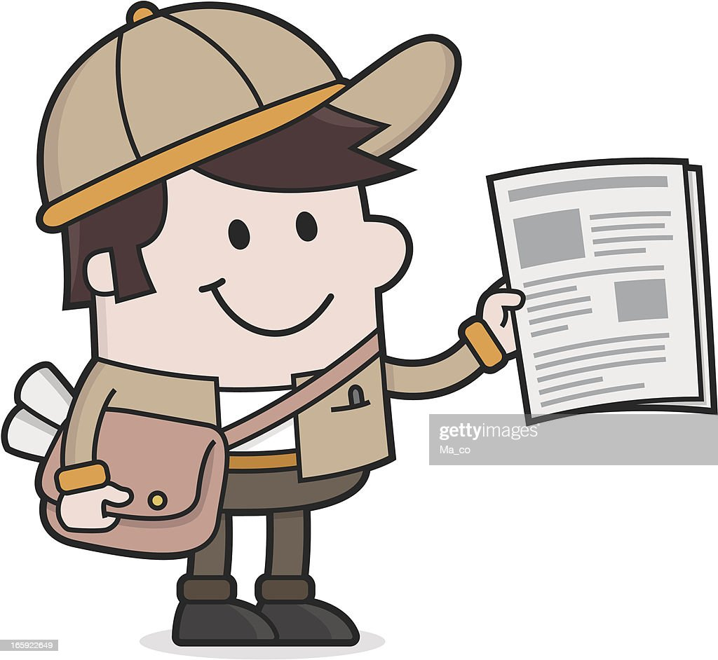 cartoon Newspaper delivery Boy / Newsletter