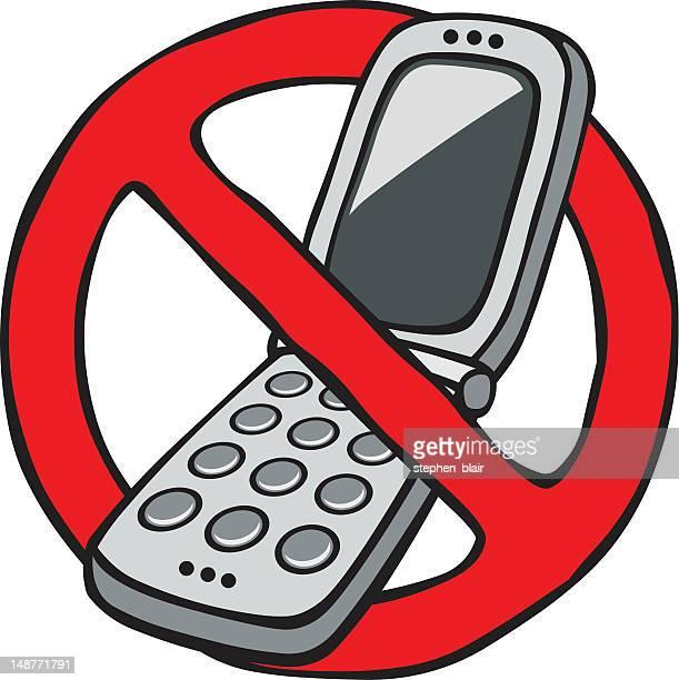 ilustrações de stock, clip art, desenhos animados e ícones de mulher nenhum sinal de telefones móveis - proibido celular