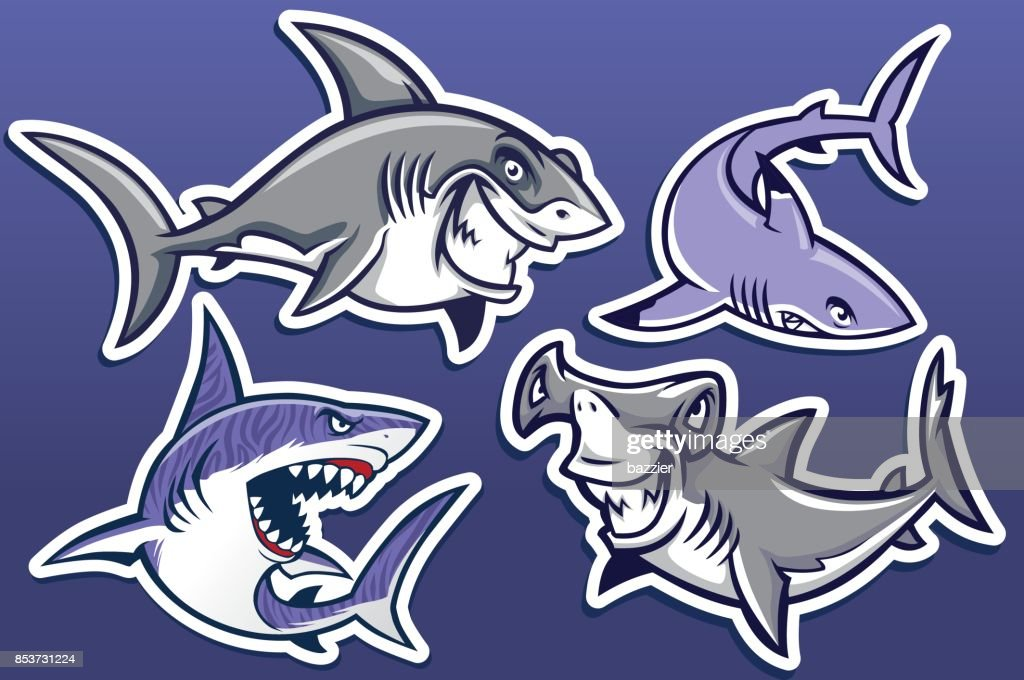 cartoon of shark collection pack