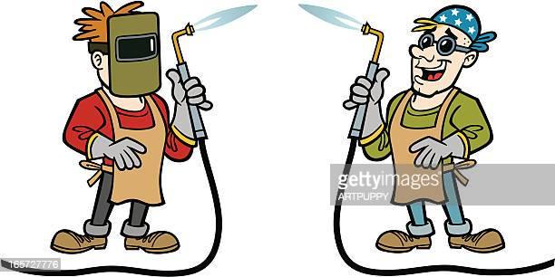 ilustraciones, imágenes clip art, dibujos animados e iconos de stock de dibujos animados de soldadura - soldar