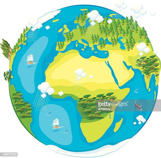 Cartoon of World