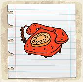 Cartoon old phone illustration