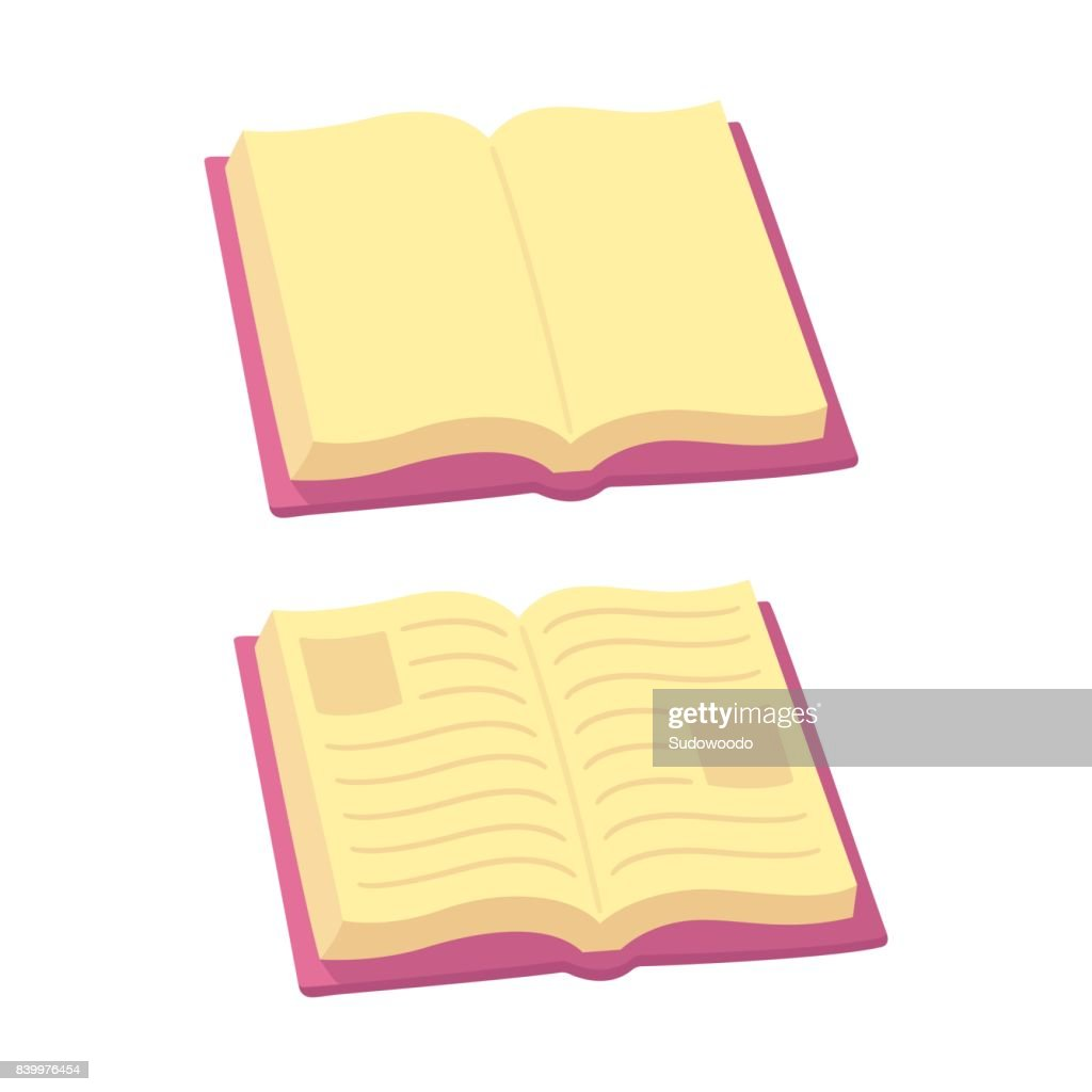 Cartoon open book