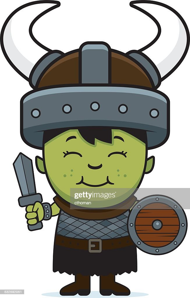 Cartoon Orc Child Sword
