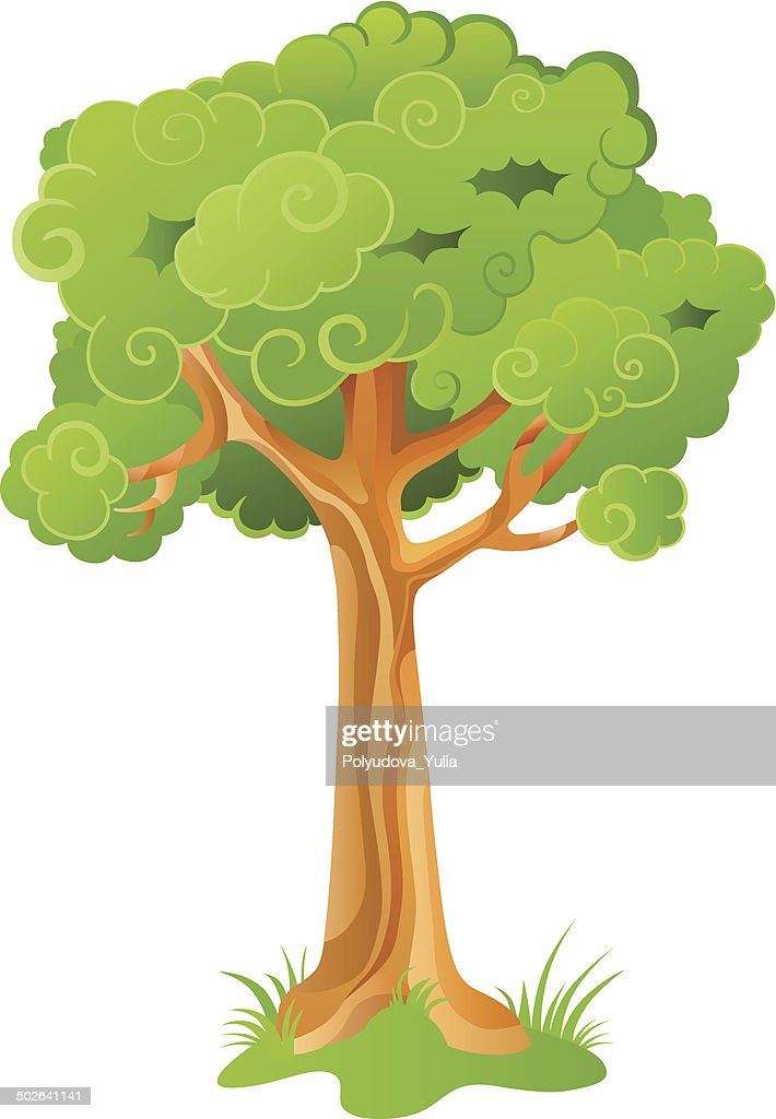 Cartoon ornamental tree
