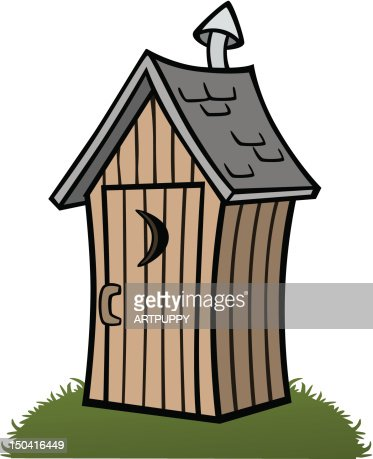 Cartoon Outhouse stock illustration - Getty Images