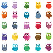 Cartoon Owl Icons