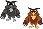 Cartoon owl