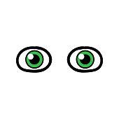 Cartoon Pair of Eyes